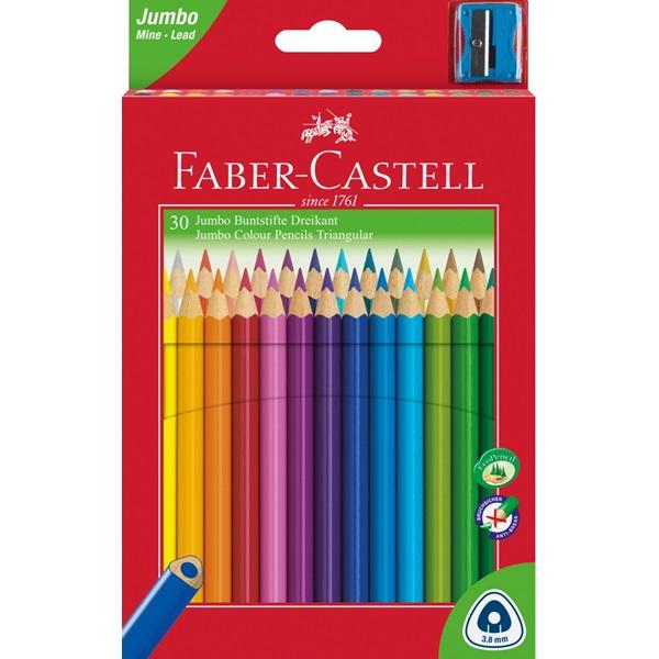 Pastelky Faber-Castell Jumbo trojhranné, 30ks