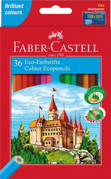 Pastelky Faber-Castell šestihranné, pap.krabička 36ks