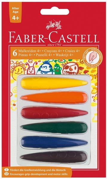 Plastové pastelky Faber-Castell do dlaně 4plus, BL 6ks