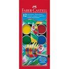 Vodové barvy Faber-Castell - 30mm, 12 barev
