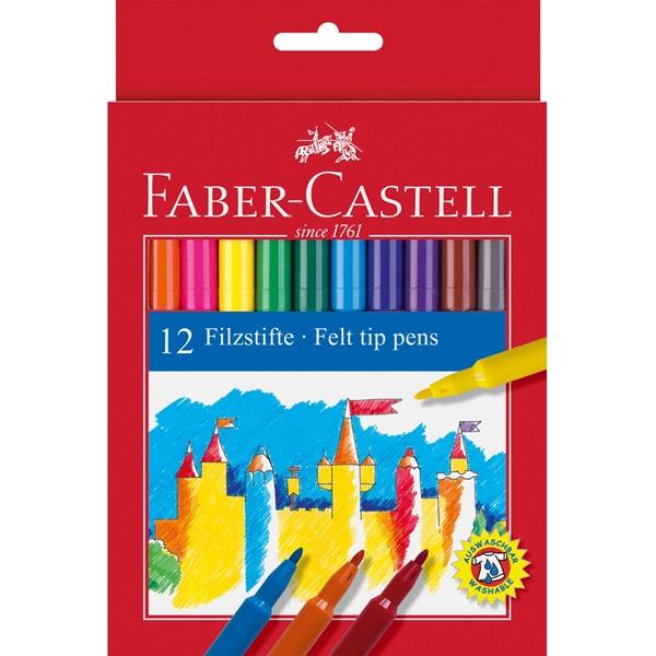 Fixy Faber-Castell - kulaté, 12ks