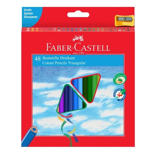 Pastelky Faber-Castell - trojhranné, 48ks + ořezávátko