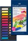 Měkké pastelové křídy MINI Faber-Castell, 24 ks