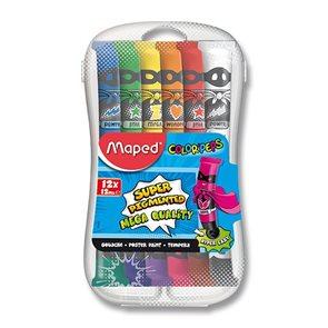 Temperové barvy MAPED COLOR'PEPS - 12 barev, tuba 12 ml