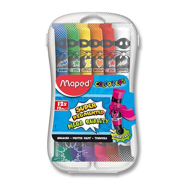 Levně Temperové barvy MAPED COLOR'PEPS - 12 barev, tuba 12 ml