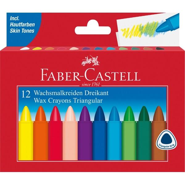 Voskovky Faber-Castell trojhranné 12ks