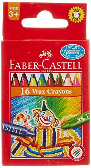 Voskovky Faber-Castell kulaté pap.krabička 16ks