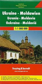 Ukrajina, Moldávie - mapa Freytag - 1:1 000 000