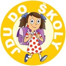 Pamětní odznak JDU DO ŠKOLY pro holky