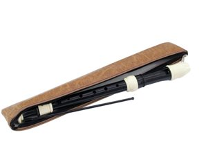 Zobcová flétna sopránová, barokní prstoklad - černá