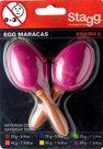 Maracas vajíčka krátká rukojeť - fialové