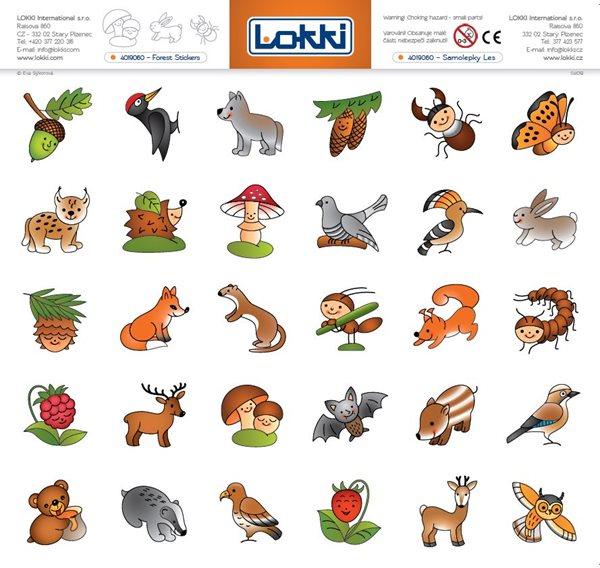 Papírové rozlišující samolepky pro mateřské školky - Les