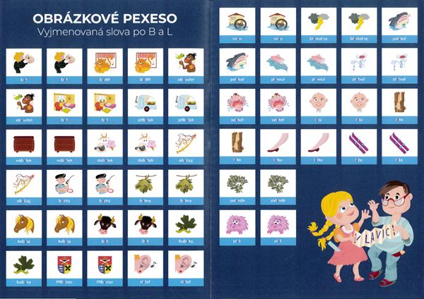Pexeso - Vyjmenovaná slova B + L