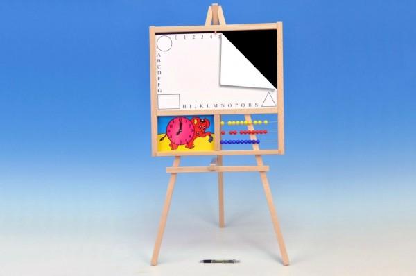 Tabule školní 88x44cm magnetická i pro psaní na fólii s počítadlem a hodinami