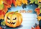 Diplom A5 Podzim Halloween dýně a listí