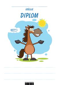 Diplom A5 Veselý kůň