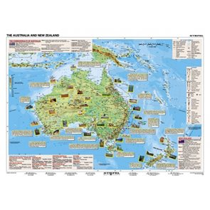 Basic Facts about Australia and New Zealand - mapa A3