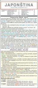 Japonština - souhrn gramatiky