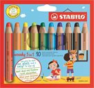 STABILO woody 3 in 1 - sada 10 barev