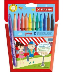 STABILO power Vláknový fix - 12 barev