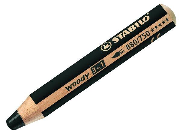 STABILO Woody 3 in 1 - černá