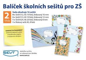 Balíček školních sešitů pro 2. třídu ZŠ