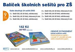 Balíček školních sešitů EKO pro 9. třídu ZŠ