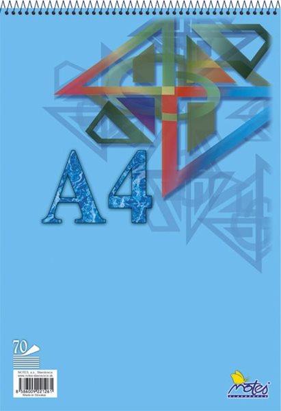 Blok A5 spirálový 70 listů - nelinkovaný