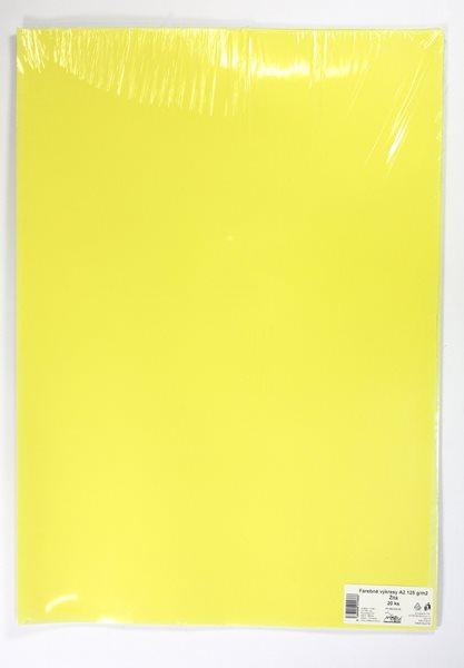 Barevné výkresy A2 125 g - 20 ks - žlutá
