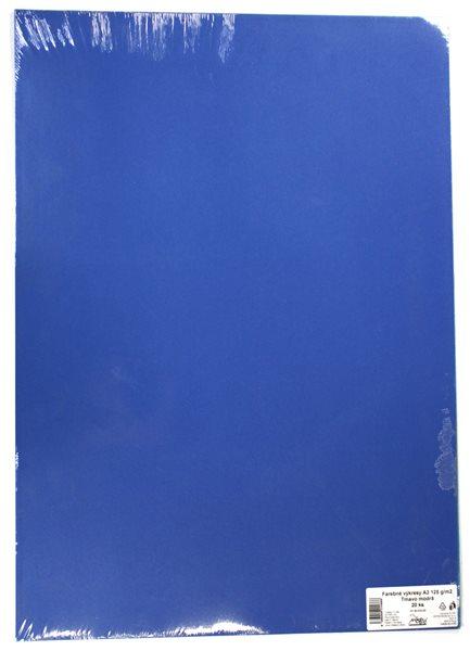 Barevné výkresy A2 125 g - 20 ks - tm. modrá