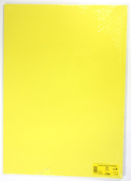 Barevné výkresy A2 225 g - 20 ks - žlutá