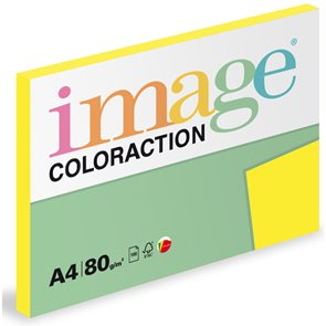 Coloraction A4 80 g - Ibiza, Reflexní žlutá 100 ks