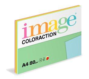 Coloraction A4 80 g 5x20 ks - mix reflexní (růžová, oranžová, žlutá, zelená, modrá)