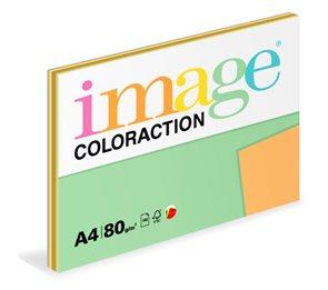 Coloraction A4 80g 5x20ks - mix intenzívní (žlutá, modrá, zelená, červená, oranžová)