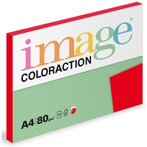 Coloraction A4 80g 100ks - Chile/jahodově červená