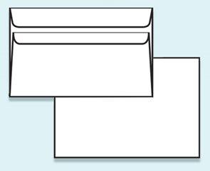 Obálka C6 samolepící, bez okénka - recyklovaný papír