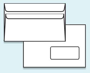 Obálka C5 samolepicí s krycí páskou, s okénkem