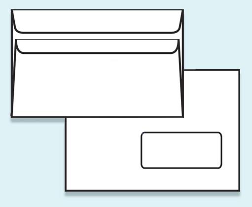 Obálka C5 samolepící s krycí páskou s okénkem - C5