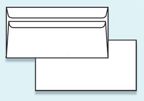 Obálka DL samolepicí, bez okénka, recyklovaný papír
