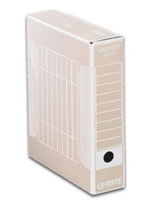 EMBA Archivační box vnitřní 33×26×7,5 cm - bílý potisk