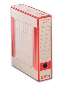 EMBA Archivační box vnitřní 33×26×7,5 cm - červený potisk
