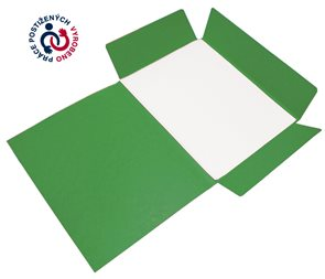 CAESAR OFFICE Odkládací mapa A4 tříklopá prešpán - zelená tmavá