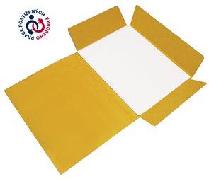CAESAR OFFICE Odkládací mapa A4 tříklopá prešpán - žlutá