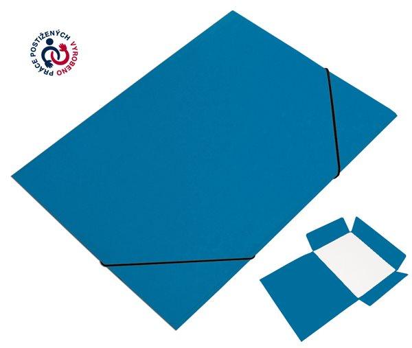 CAESAR OFFICE Desky A4 s gumou tříklopé Prešpán - modré tmavé