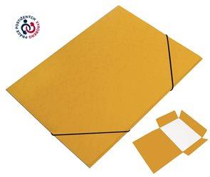 CAESAR OFFICE Odkládací mapa A4 tříklopá s gumou prešpán - žlutá