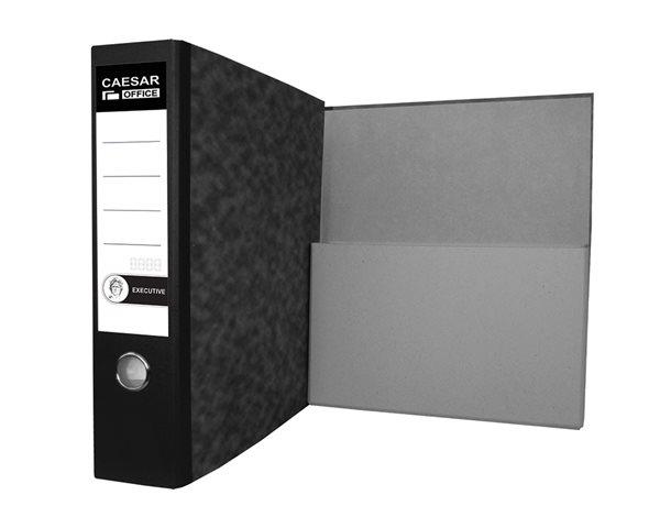 CAESAR OFFICE EXECUTIVE Pořadač archivní A4 7,5 cm - mramor černý - 7,5 cm šířka hřbetu