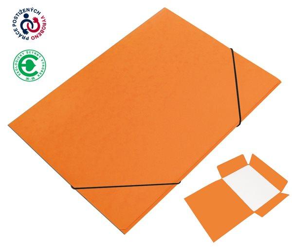 CAESAR OFFICE Desky A4 s gumou tříklopé Prešpán - oranžová