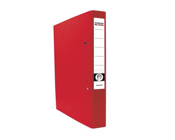 CAESAR OFFICE SENATOR Pořadač 2-kroužkový A4 4cm - červený
