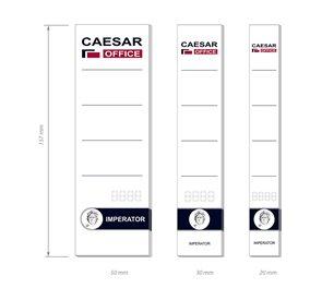 CAESAR OFFICE Štítek na pořadač zasouvací 50x157 mm - 10 ks