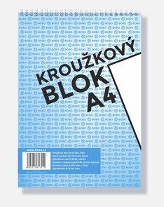 BOBO Blok kroužkový, horní vazba, A4 50 l. nelinkovaný